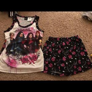 Girl Descendants two piece pajama set
